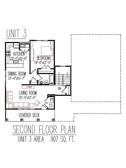 Triplex plans 2700 sq ft 3 unit 2 floors 3 bedroom for 2700 sq ft house plans
